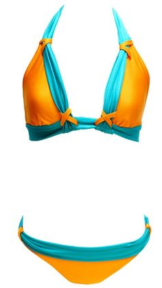 Summer can't get hotter!;) tangerine & teal www.soakswimwear.multiply.com/products