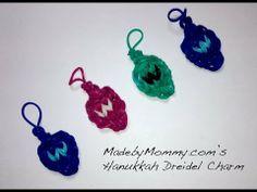 Made by Mommy's Hanukkah Dreidel Charm on the Rainbow Loom