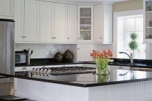 Shaker - Plat - Blanc - Armoires de cuisines | EBSU