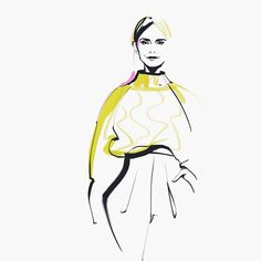 This is my personal fashion illustrations. It was inspired by Russian designers and models, high fashion and space. There are looks from Spring Summer fashion shows.