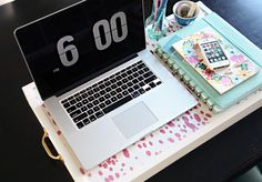 IHeart Organizing: DIY Portable Workspace/Collapsible Tray