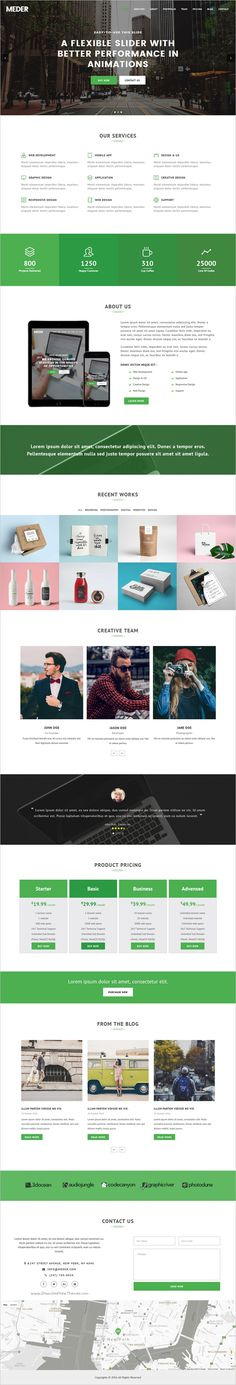 Meder is beautiful design, fully responsive #Bootstrap #Template for #OnePage website with animated slider download now➩  https://themeforest.net/item/meder-one-page-responsive-template/18527118?ref=Datasata