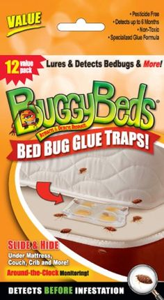 BuggyBeds Value Bed Bug Glue Traps - 12 Pack - Protect every room in your home from pests with the BuggyBeds Value Bed Bug Glue Traps - 12 Pack . This set of 12 traps provides you with plenty of ammunition. Bed Bug Trap, Glue Traps, Stink Bugs, Bees And Wasps, Humming Bird Feeders, Bed Bugs, Double Stick Tape, Pest Control, Fleas