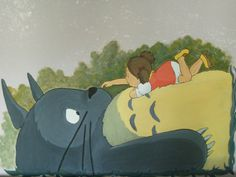 Il mio vicino Totoro (painting on the wall)