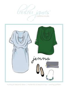 This is one hard-working pattern. Cut it as a tunic to cover your bump or piece it with a shirt-tail hemmed skirt for a pretty,