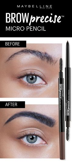 Get natural looking, defined eyebrows with the Maybelline Brow Precise Micro Pencil. The Micro Pencil features a micro fine tip to help create natural, hair like strokes and a spoolie to brush through brow hairs to blend. Click through to explore Brow Precise Micro Pencil!
