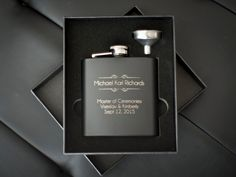 Personalized Matte Black Flask Perfect by ThePersonalizedGift