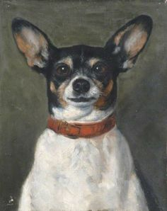 Rat terrier painting