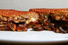 #Mushroom and #Prosciutto Grilled Cheese #Sandwich