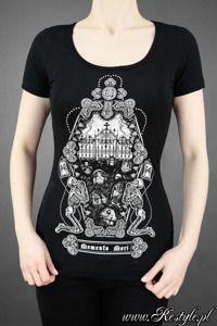 black t-shirt MEMENTO MORI cemetery, horror, gothic blouse