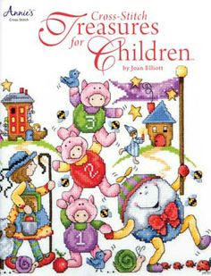 The precious and magical world of Mother Goose, cuddly and friendly animals, ABCs, fairies, and dragons come to life in these delightful cross-stitch designs created by internationally-known designer, Joan Elliott.  Create a wide variety of bright and cheerful keepsakes for your favorite little one from birth through childhood.  All 27 designs and the four alphabet charts are presented in clear black-and-white charts with color backstitching.  48 pages, soft cover.