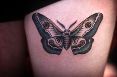 moth tattoo by alice carrier at anatomy tattoo in portland, oregon - nice placement Dagger Tattoo, Arm Tattoo, Body Art Tattoos, Cool Tattoos, Amazing Tattoos, Tatoos, Moth Tattoo Meaning, Anatomy Tattoo, Under My Skin