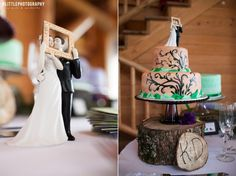 Love the chocolate piping. Add big flower arrangement on top instead and it is perfect
