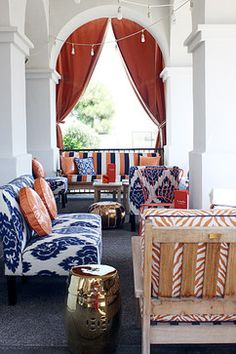 Decorating With Orange And Blue Design Ideas, Pictures, Remodel and Decor