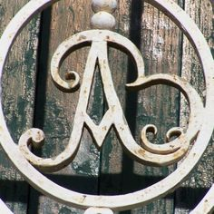 A is for Andrea...cast in iron