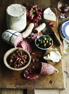 The makings of the perfect impromptu picnic. All you need is a good knife, a blanket & a bottle of red wine. donna hay magazine