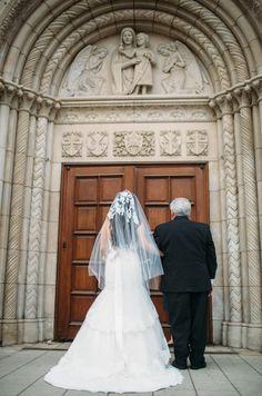 Amazing lace veil.  Wedding photography.  Leah Vis Photography