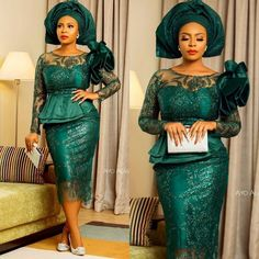 Trendiest Asoebi Gowns for Women - DarlingNaija Nigerian Lace Dress, Nigerian Lace Styles, African Lace Styles, Short African Dresses, Latest African Fashion Dresses, African Print Dresses, Lace Gown Styles, Lace Dresses, African Traditional Dresses