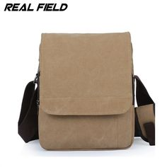 8272ce27e3 Real Field RF Men Vertical Canvas Messenger Bag Student School the trend of Casual  Male Shoulder Crossbody Bolsa Handbags 094-in Crossbody Bags from Luggage  ...