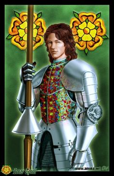"""Loras Tyrell by Amoka. """"Then the Knight of Flowers mounted up and put the others all to shame. Jousting was three-quarters horsemanship, Jaime had always believed. Ser Loras rode superbly, and handled a lance as if he'd been born holding one.... He puts the point just where he means to put it, and seems to have the balance of a cat."""""""