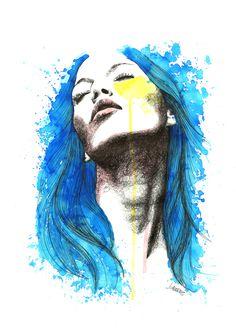 Passion. Ilustración por Jesús Cáceres. Acuarela + tinta / watercolor & ink