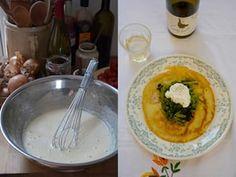 Rachel Roddy's chickpea pancakes.