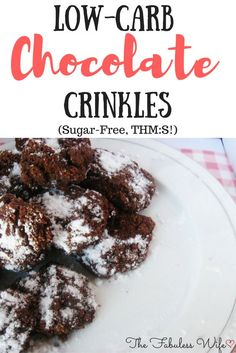 My Chocolate Crinkle Cookies are the perfect holiday go-to! They're chewy, rich and dusted with the perfect amount of sweetener. They're low-carb, sugar-free and THM S!