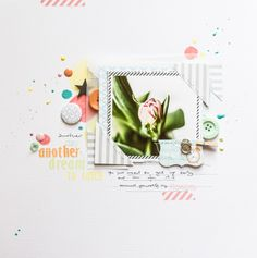 #papercraft #scrapbook #layout.  chasing dreams by all-that-scrapbooking at @Studio_Calico
