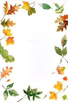 """""""Four seasons"""": """"Leaves"""" letter pad Page Borders, Borders And Frames, Fall Crafts, Diy And Crafts, Paper Crafts, Leaf Border, Autumn Activities, Note Paper, Writing Paper"""
