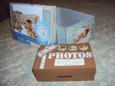 Caixa porta fotos e DVD - Batizado