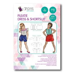 Pleatie Dress & Shortsuit Sewing Pattern - Tadah Patterns + Sewing