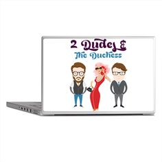 2 Dudes and The Duchess Logo Laptop Skins