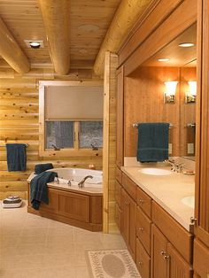 Log Home Interiors | Affordable Luxury Log Home Gallery : Featured Interiors