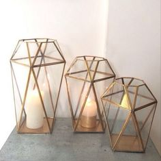 Our brass lanterns have arrived! All three sizes available now in AlOthman and very soon online. They are available via WhatsApp as well- contact in our profile. #ecru #lanterns #candles #brass #glass #homeware #decor #design #interiors