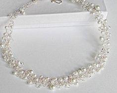 Perlenkette mit Strickliesel gefertigt | Beading and Jewelry ...