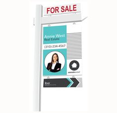 Realtor for Sale House yard sign Keller Williams by Ladyluckpr Real Estate Yard Signs, Real Estate Sign Design, Real Estate Branding, Real Estate Logo, Real Estate Marketing, Luxury Real Estate, Open House Signs, House Yard, Signage Design