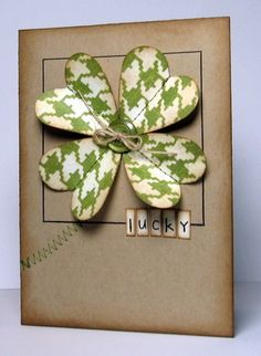 for #stpatrick's day use a heart punch and create a cute lucky card!  for stamping cards visit me at My Personal blog: http://stampingwithbibiana.blogspot.com/