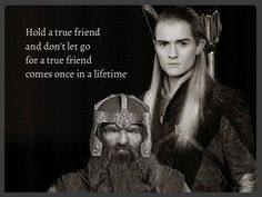 Gimli (John Rhys-Davies) Legolas Greenleaf (Orlando Bloom) in Lord of the Rings movie trilogy from the stories by J.R Tolkien Legolas And Gimli, Thranduil, Gandalf, Best Love Stories, Love Story, Into The West, Z Cam, Jrr Tolkien, Tolkien Quotes