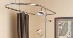 Curtain Ideas: Oval shower curtain rod bathtub