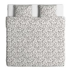 ROSTVIN Påslakan 2 örngott, vit, grå - vit/grå - 240x220/50x60 cm - IKEA