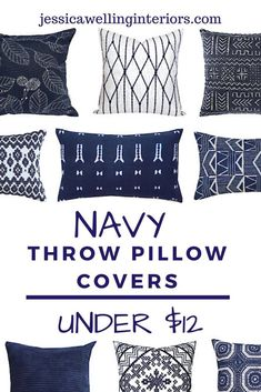 Cheap throw pillow covers are an easy and inexpensive way to change up your living room decor. These stylish throw pillows are colorful, modern, and Boho. Cheap Throw Pillow Covers, Modern Pillow Covers, Cheap Pillows, Blue Pillow Covers, Modern Throw Pillows, Decorative Throw Pillows, Navy Blue Throw Pillows, Room Decor, Living Room