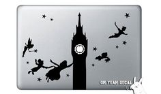 Peter Pan Macbook Decal via Etsy. Another finalist that ended up not making the cut.