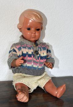"""Schildkröt-Puppe """"Inge"""", antikes Original von 1940, 35cm • EUR 30,00 - PicClick DE"""