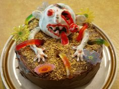 Zombie birthday cake I made for my daughter...fun!