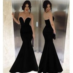 Fabulous Black Off The Shoulder Floor Length Mermaid Dress
