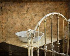Rustic Decor, Cottage Chic, Bath Decor, Neutral Tones, Shabby Chic, Old Bedroom Photo, Vintage Look, Bedroom Decor, Brown, Beige