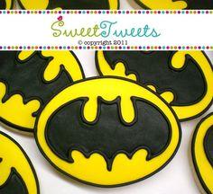 SweetTweets  Batman Cookies  1 dozen by SweetTweetsOnline on Etsy, $36.00