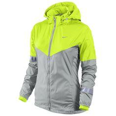 Nieuw! Nike jack Vapor neon/grijs dames te bestellen bij Hardloopaanbiedingen.nl #Nike #hardloopjack #hardlopen