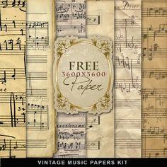 Freebies Vintage Music Papers / http://farfarhill.blogspot.ca/search?updated-max=2011-07-25T17:34:00%2B03:00=20=380=false