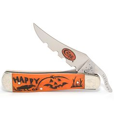 Case knives Case XX Knife Item # 82385 - Russlock - Halloween Series Designs by Linda Karst Halloween Series, Case Knives, Swiss Army Knife, Axe, Sword, Weapons, Tools, Storage, Beautiful